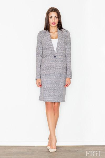 Dámská sukně Figl M516 vzorovaná šedá