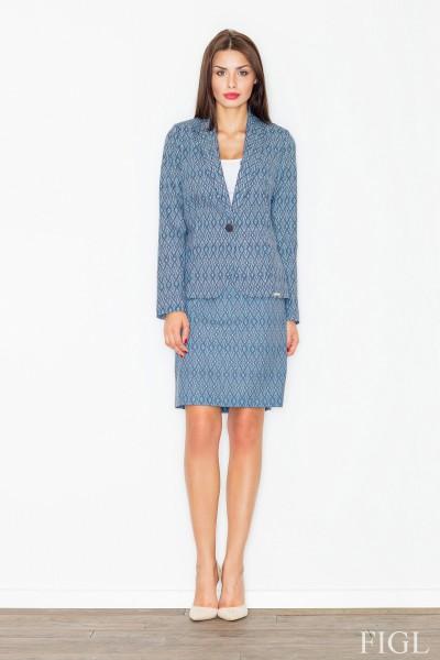 Dámská sukně Figl M516 vzorovaná modrá