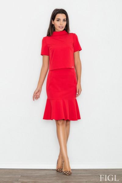 Dámská sukně Figl M538 červená