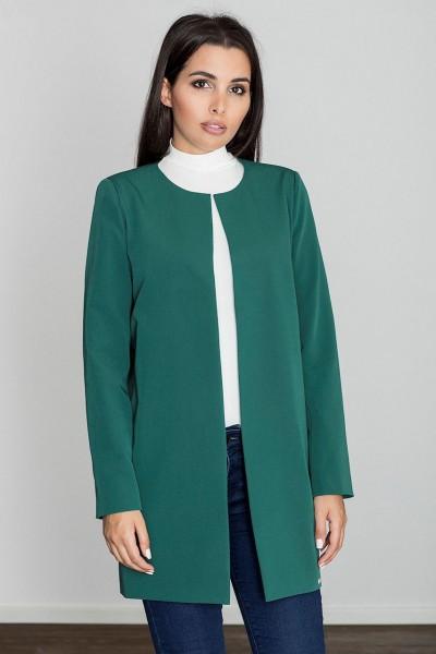 Dámský kabát Figl M551 zelený
