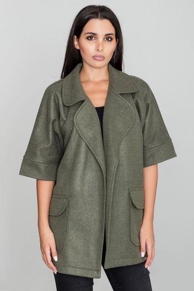 Dámský kabát Figl M587 olivový