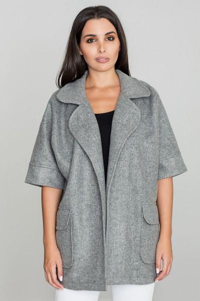 Dámský kabát Figl M587 šedý