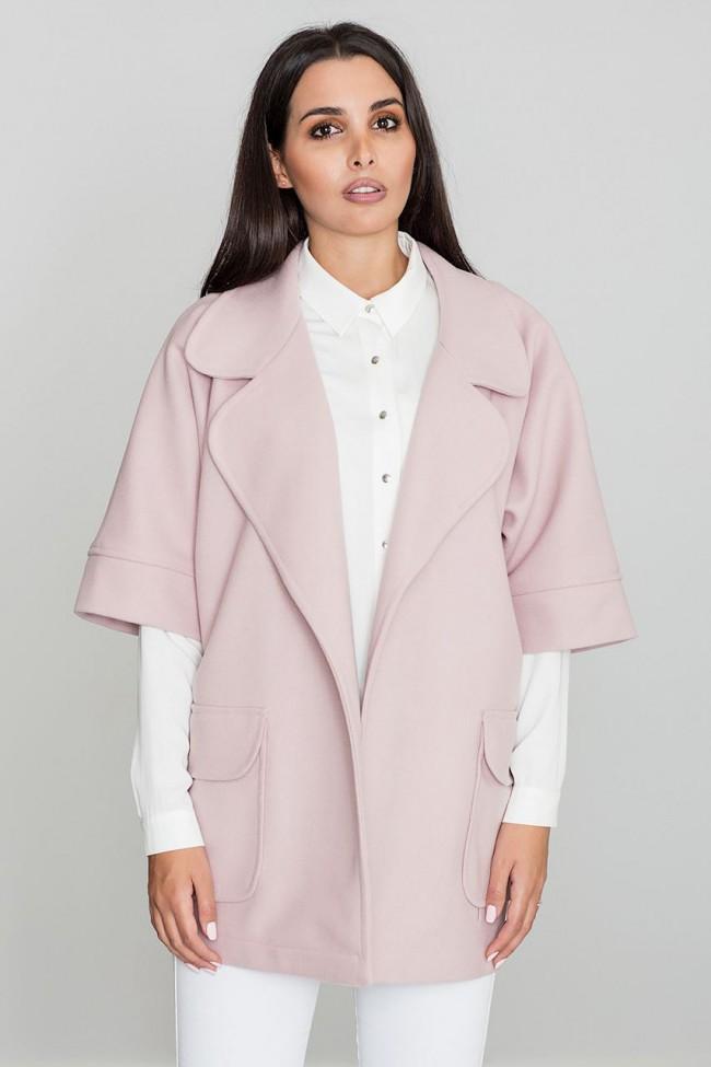 Dámský kabát Figl M587 růžový
