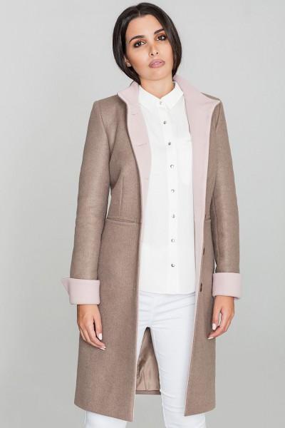 Dámský kabát Figl M588 moka - výprodej