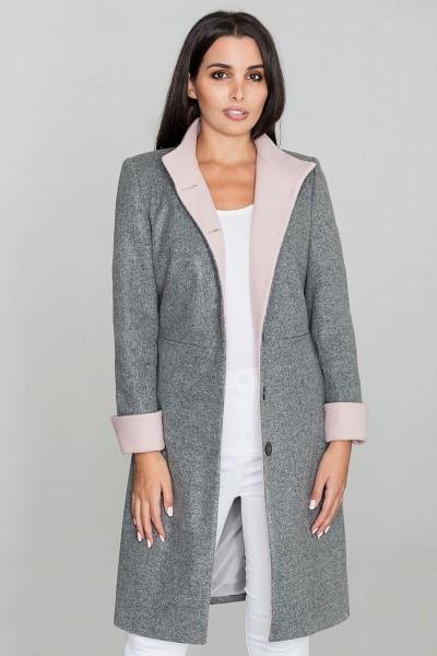 Dámský kabát Figl M588 šedá