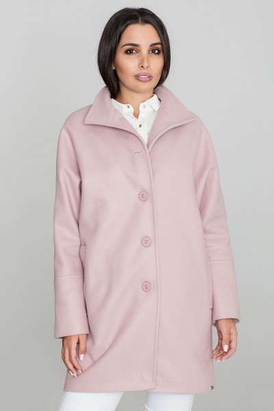 Dámský kabát Figl M589 růžový