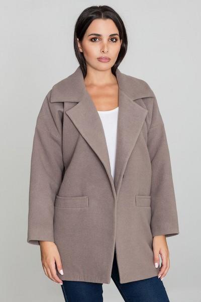 Dámský kabát Figl M590 moka