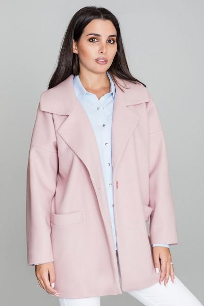 Dámský kabát Figl M590 růžová