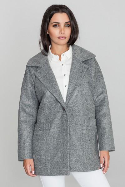 Dámský kabát Figl M590 šedá