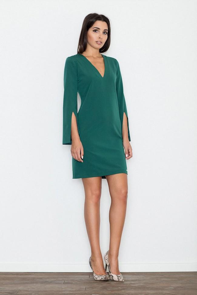 62e736fcfdeb Dámské šaty Figl M 550 zelené