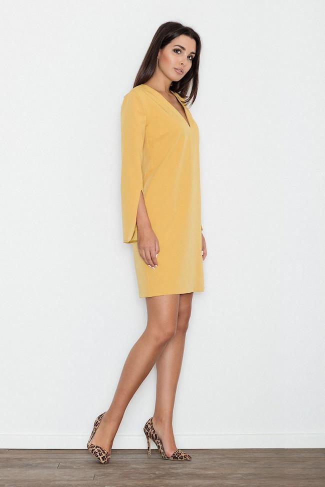 293090821480 Dámské šaty Figl M 550 žlutá