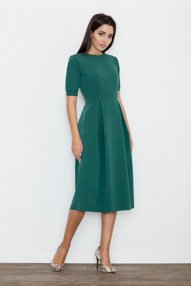 885a0b7eb368 Dámské šaty Figl M 553 zelené