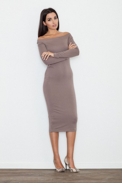 Dámské šaty Figl  M 558 hnědé