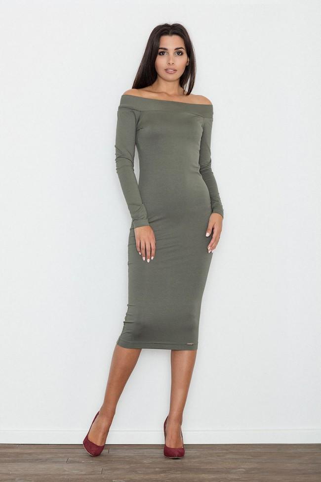 Dámské šaty Figl  M 558 olivové
