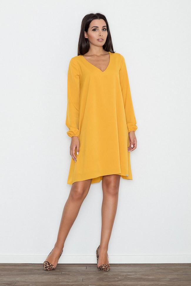 Dámské šaty Figl  M 566 žluté