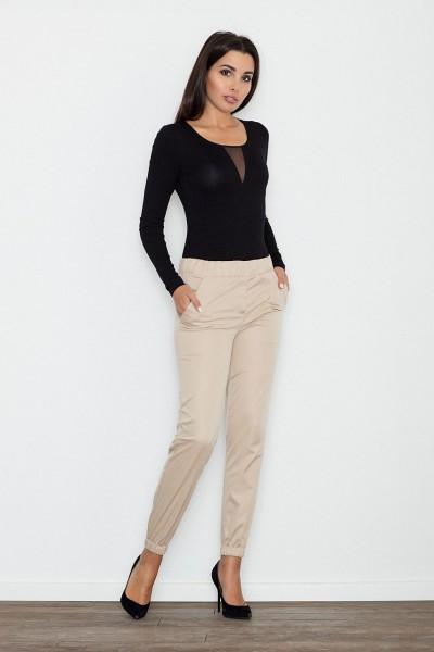Dámské kalhoty Figl M556 béžové