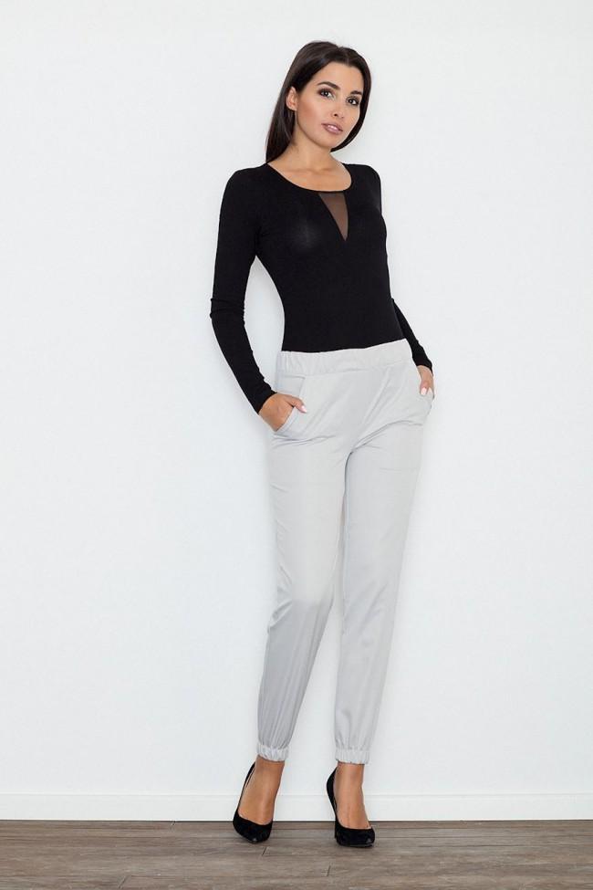 Dámské kalhoty Figl M556 šedé