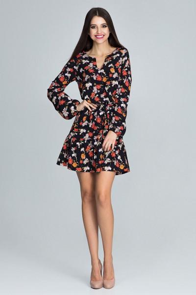 Dámské šaty M 597 vzorované