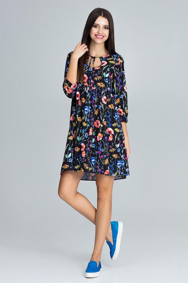 Dámské šaty M 598 vzorované
