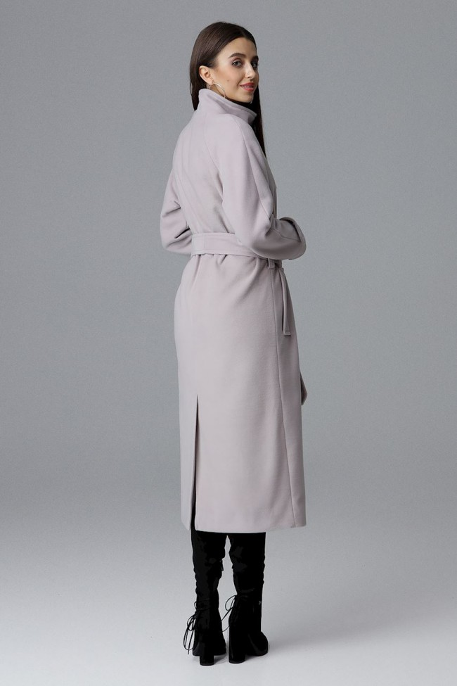 Dámský kabát Figl M624 béžová