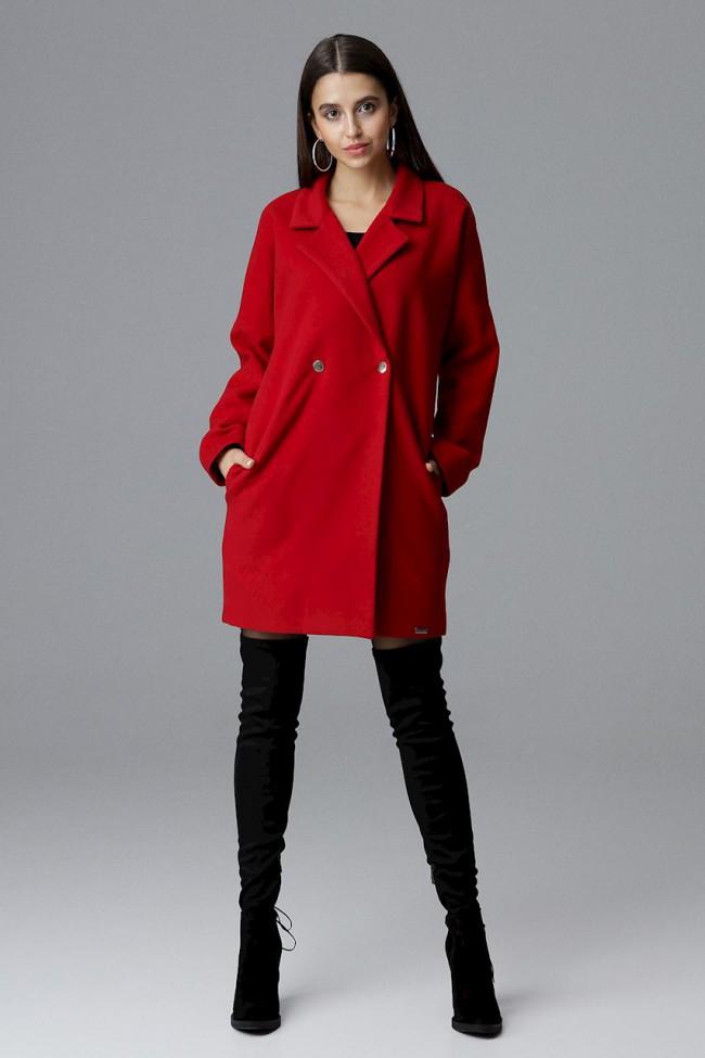 Dámský kabát Figl M625 červená