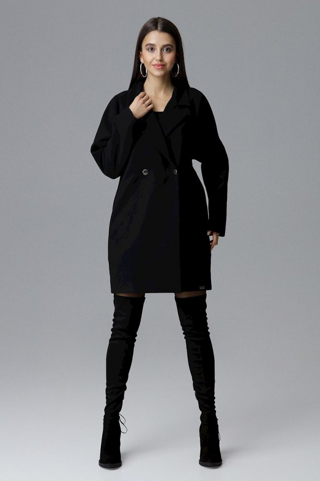 Dámský kabát Figl M625 černá