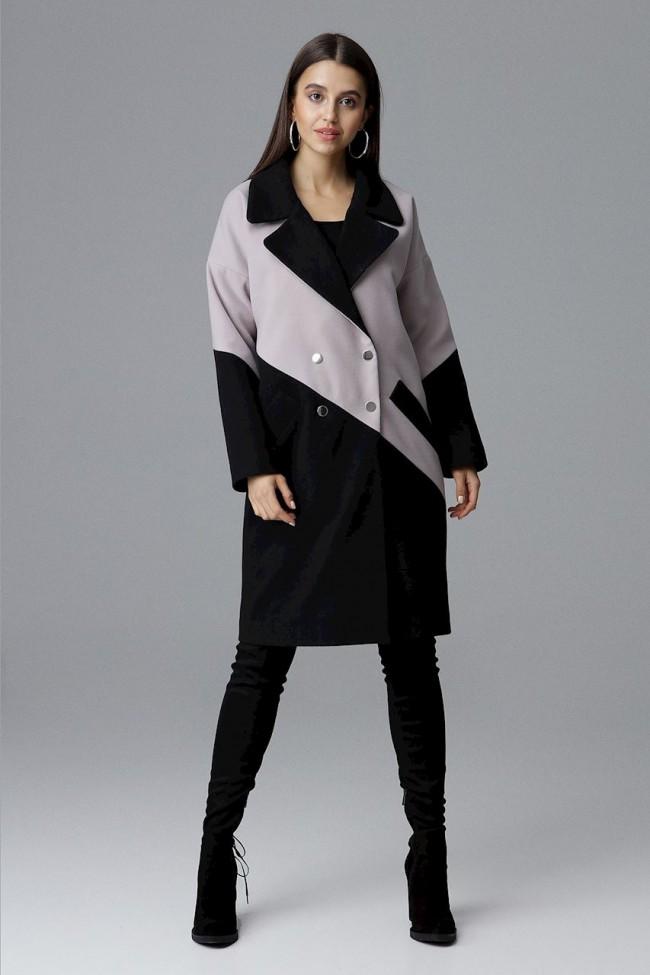 Dámský kabát Figl M626 černé béžová
