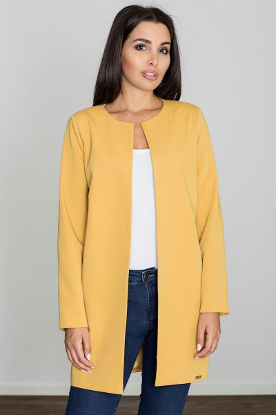 Dámský kabát Figl M551 žlutý