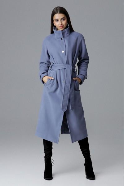 Dámský kabát Figl M624 modrá - výprodej - velikost S